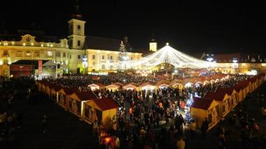 Targul de Craciun din orasul Sibiu