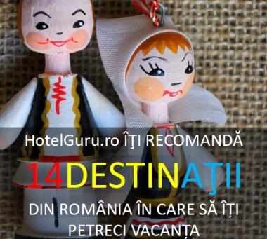 Brosura cu 14 idei de vacanta in Romania