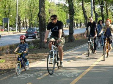 Cu bicicleta prin Bucuresti